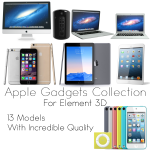 Apple Gadgets Collection for Element 3D