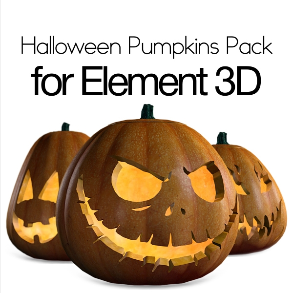 Halloween Pumpkins Pack for Element 3D